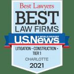 U.S News - Best Lawyers: Best Law Firms (Construction) 2021 badge